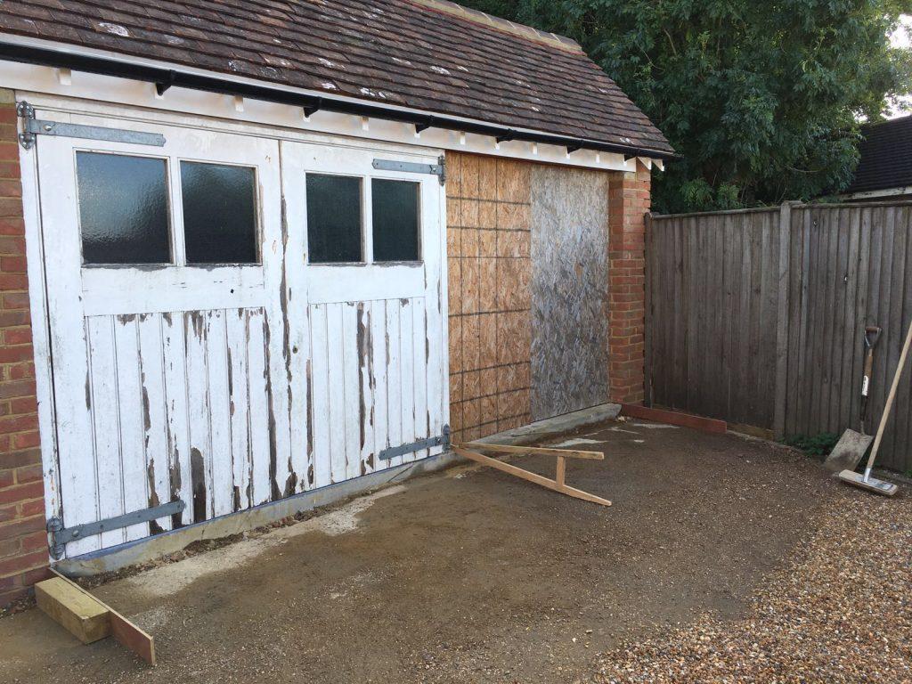 making a concrete ramp into the garage – Garage Mini Ramp Plans